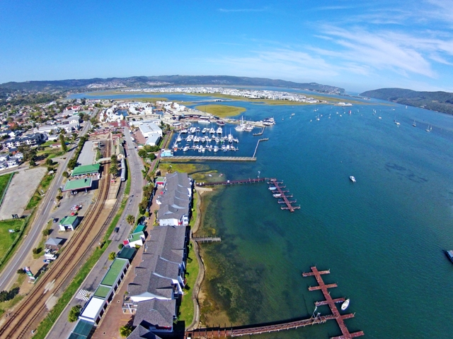 Knysna Waterfront Aerial Pic